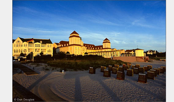 Sea-facing resort hotels at Ostseebad Binz.